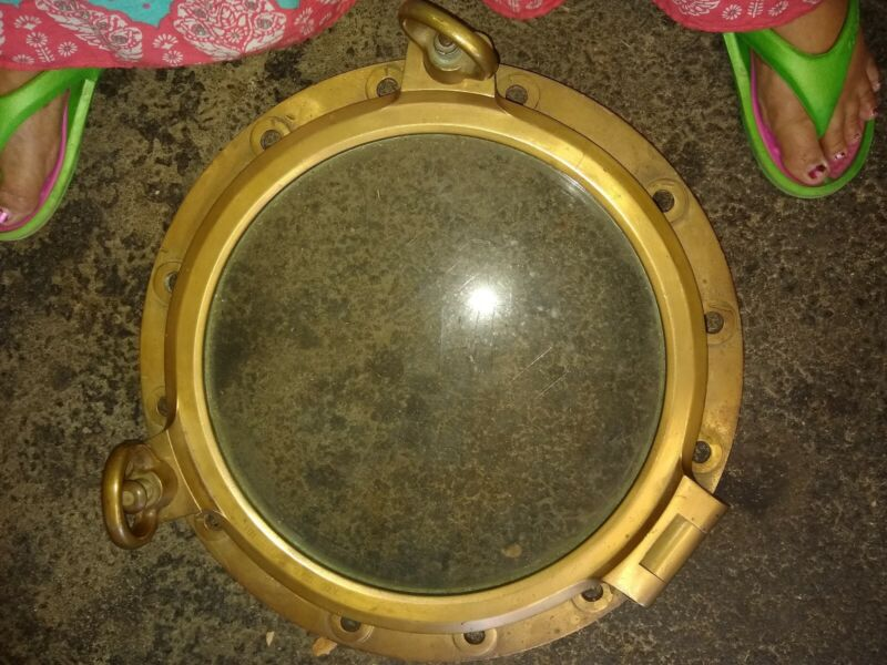 21 inch Heavy Duty Brass vintage Nautical Porthole glass window Naval