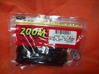 "#010-038 BLACK ZOOM /""C/"" Tail Worm 20cnt 2 PCKS"