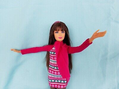 Dreamhouse skipper Barbie doll Jointed articulated tinted brunette hair