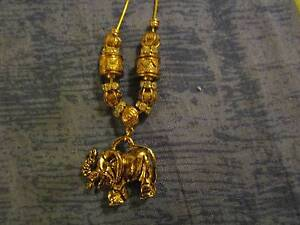 Gold Plated Elephant Necklace Campbell North Canberra Preview