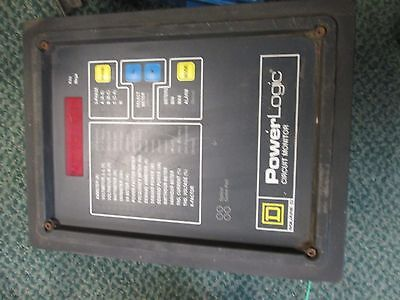 Square D Power Logic Circuit Monitor 3020 Cm-2150 W 3090 Vpm-277-c1 Used