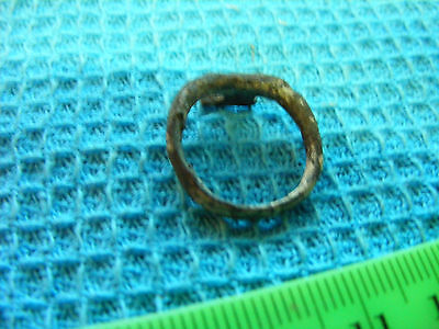 Ancient Roman bronze Ring, (Actually a  KEY)  16mm size inside.Ring Key..