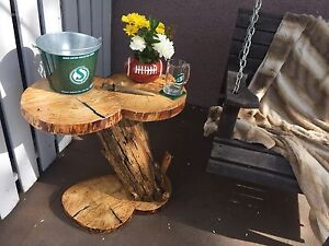 rustic live edge table 200.00