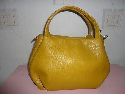 Tasche NEU ital. Handtasche Damentasche Leder Gelb