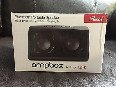 Rosewill R-Studio AMPBOX-Red Bluetooth Portable Speaker Built-In Mic and Battery