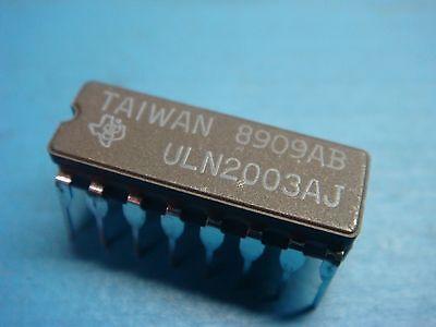 1 Ti Uln2003aj Darlington Npn 50v 0.5a Transistor 16 Pin Ceramic Dip Uln2003an