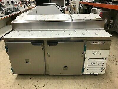 Beverage Air Dp67 Deli Pizza Prep Table Refrigerator With Two Doors