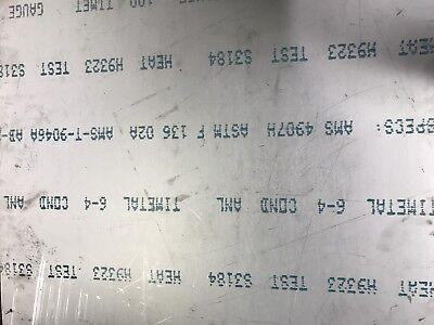 Titanium Sheet 6al-4v Mill Timet .025 X 12 X 12