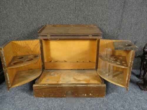 Antique Oak Chemist or scientific  Box 1800's