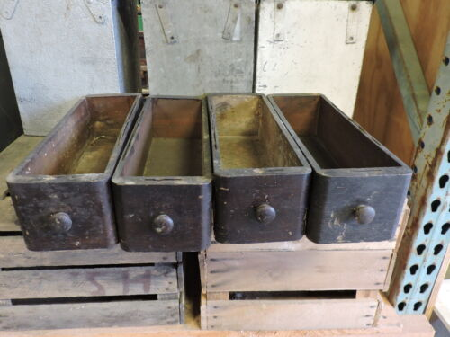 Lot of 4 Wood Antique Treadle Sewing Machine Drawers