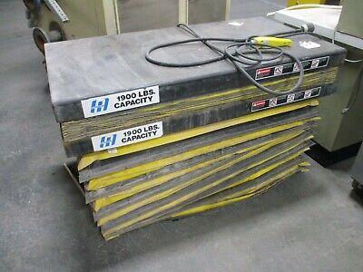Autoquip Hydraulic Lift Table W Accordion Skirt 1900lbs Capacity 480v 3ph Used