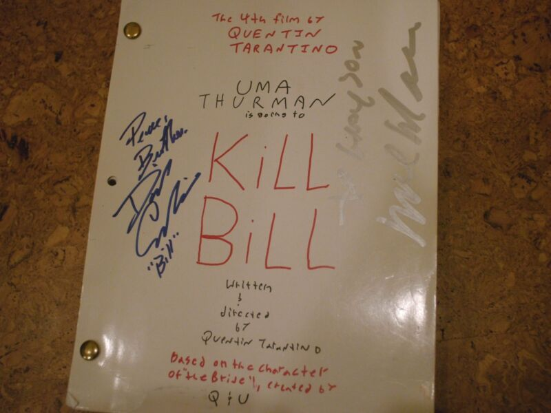 "Signed Original ""kill Bill"" Production Script"