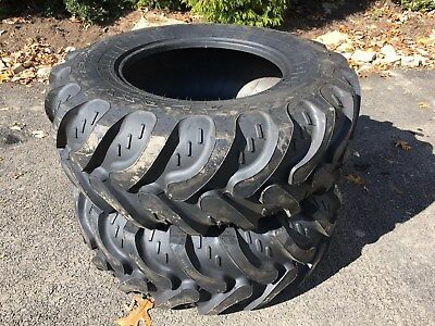 2 New 17.5l-24 Backhoe Tires R4 - 10 Ply - 17.5lx24 - 17.5x24 - Galaxy Ez Rider