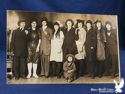 RPPC Young People's Theatrical Acting Play Troupe Group in Costume Tiny Cowboy - Fun Group Costumes