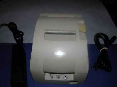 Micros Epson Tm-u220b M188b Dot Matrix Pos Receipt Printer Idn W Power Supply