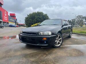 1999 Nissan Skyline R34 GT-V 25GT  Sedan Auto Black Non Turbo P-Plate Legal Thomastown Whittlesea Area Preview