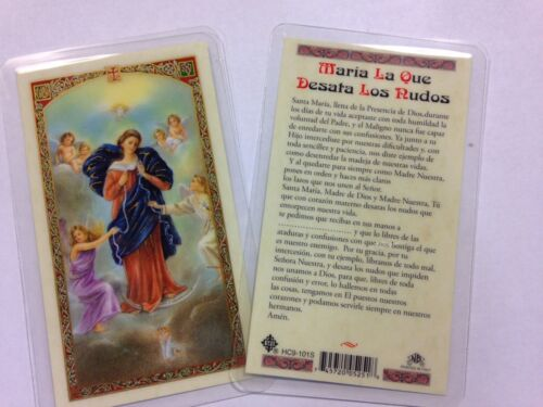 HOLY PRAYER CARDS FOR MARY - UNTIER OF KNOTS SET OF 2 IN SPANISH FREE SHIP!
