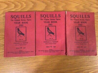 Racing Pigeon Books . The Squills year book1960-1962.Three copies