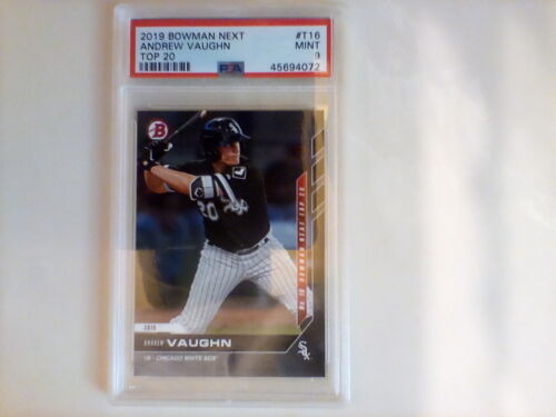 2019 Bowman Next Topps Now Top 20 MLB Prospects /291 Andrew Vaughn #T16 PSA 9