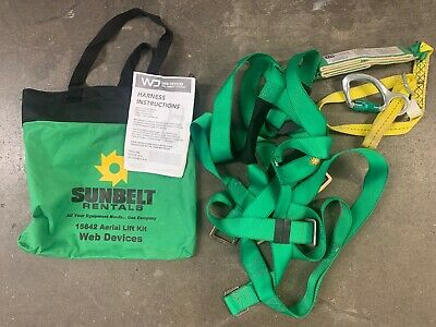 Fall Protection Safety Harness Sunbelt Ariel Lift Kit. 310 Lbs. 3-4 Feet.