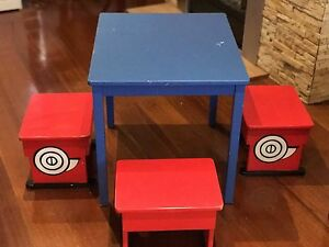 Moving Sale - Kids wooden table with 4 wooden stools Glen Waverley Monash Area Preview