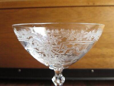 Fostoria JUNE CLEAR Champagne High Sherbet Glass 6