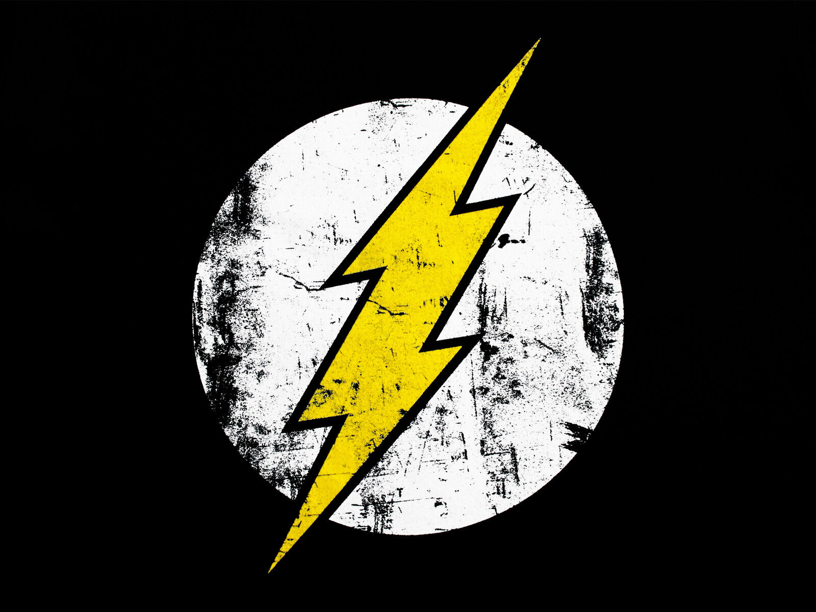 The Flash Logo Classic Licensed Reverse Zoom TV DC Comics Black Mens T-shirt 9762c33cf03
