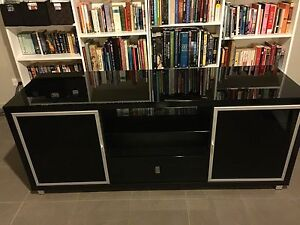 Modern Entertainment Unit in Glossy Black Berwick Casey Area Preview