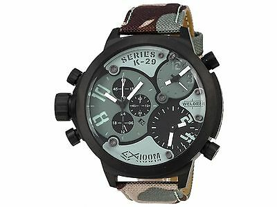 Welder By U Boat Triple Time Zone Chronograph Camouflage Mens Watch K29 8004
