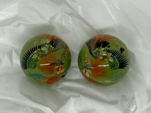 "Baoding Balls Chinese Health Exercise Stress Balls Phoenix 1.5"" Feng Shui"
