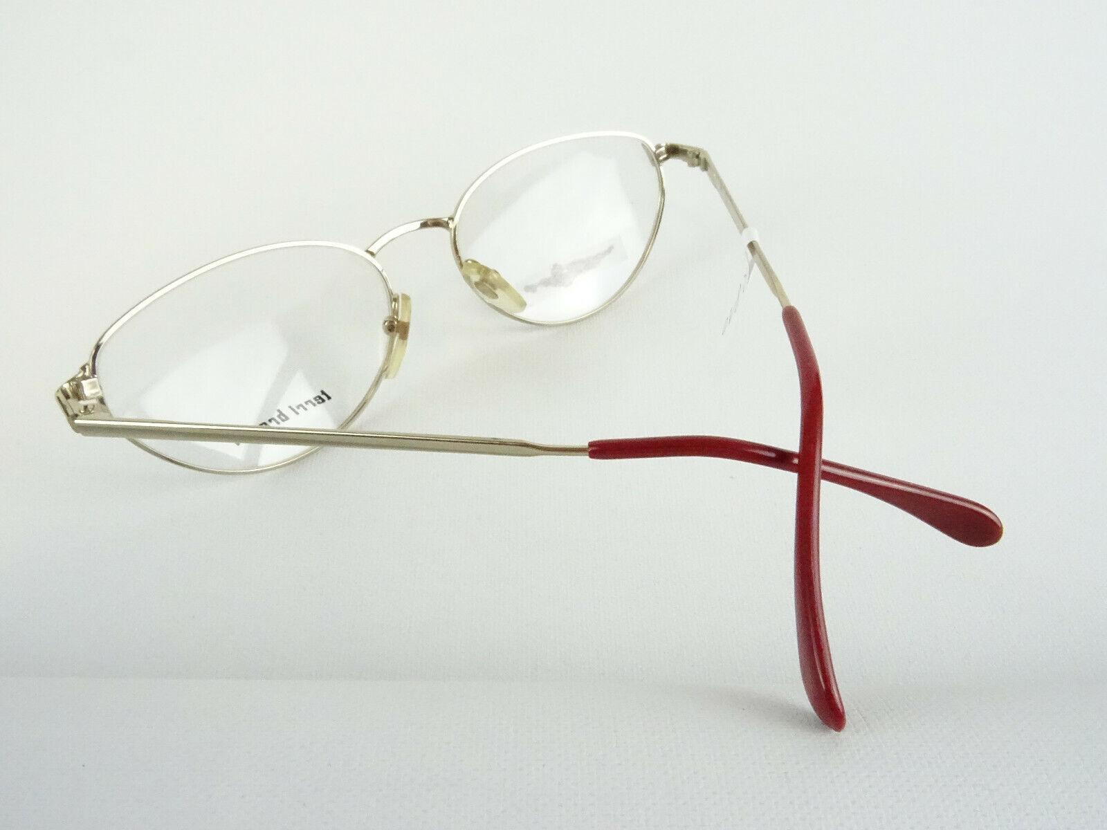 Vintagebrille 80er Jahre Fassung NOS gold braun Damenbrille TERRI BROGAN Gr. M