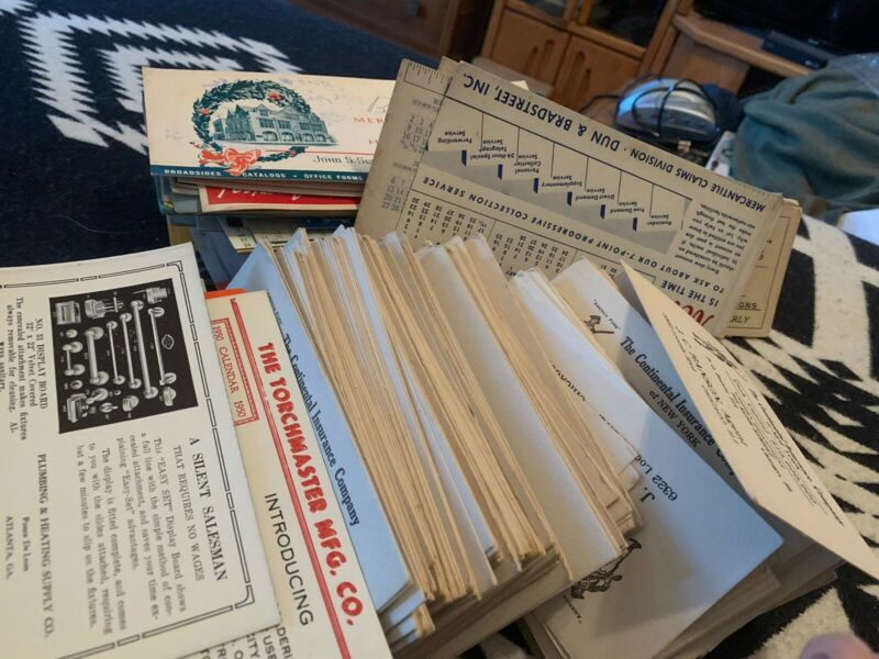 400-500 Advertising Ink Blotters from 1940s - 1950s Insurance Business Plumbing