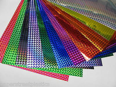 Any 3 Colors Holographic 14 Mosaic Prism Sign Vinyl 8 X12 Inch Sheets