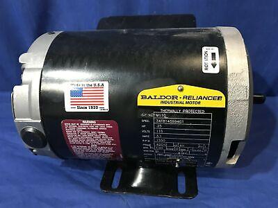 Baldor Industrial Motor M110 34f814s994g1 14 Hp 1550 Rpm 115v 3.1a 42cyz Frame