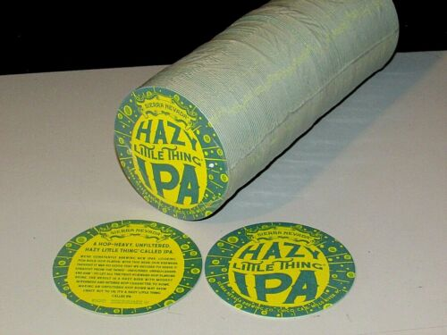 NEW 125 Sierra Nevada Hazy Little Thing IPA Chico Party Bar Beer Coasters Pub