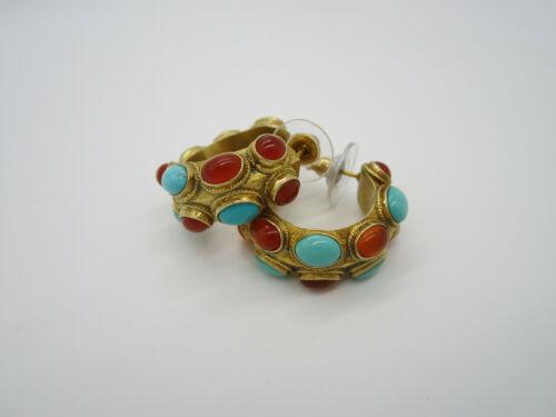 Vintage MMA Metropolitan Museum of Art Gold Sterling Silver Pierced Earrings
