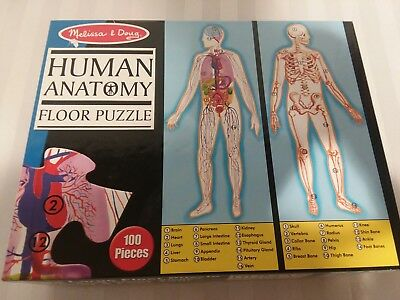 Melissa & Doug Human Anatomy Floor Puzzle Over 4 Ft. Tall 100 Double Sided Pcs