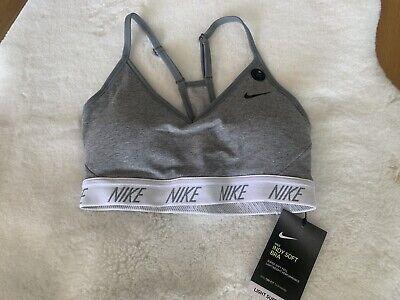New women's Nike sport bra black white grey size XS