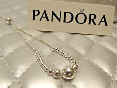 Pandora S/M String of Beads Adjustable Bracelet #597749-1 Box Available Choose ()