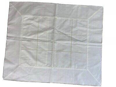 Sferra Bros 100% Egyptian Cotton Ivory Hemstitch Boudoir Pillow Sham  Ivory Boudoir Pillow
