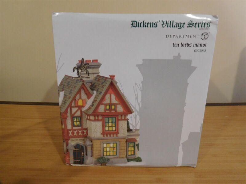 Dept 56 Dickens Village - Ten Lords Manor - NIB