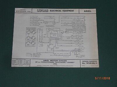 Ariel Leader , Lucas Wiring Diagram, November 1961 No W54949615