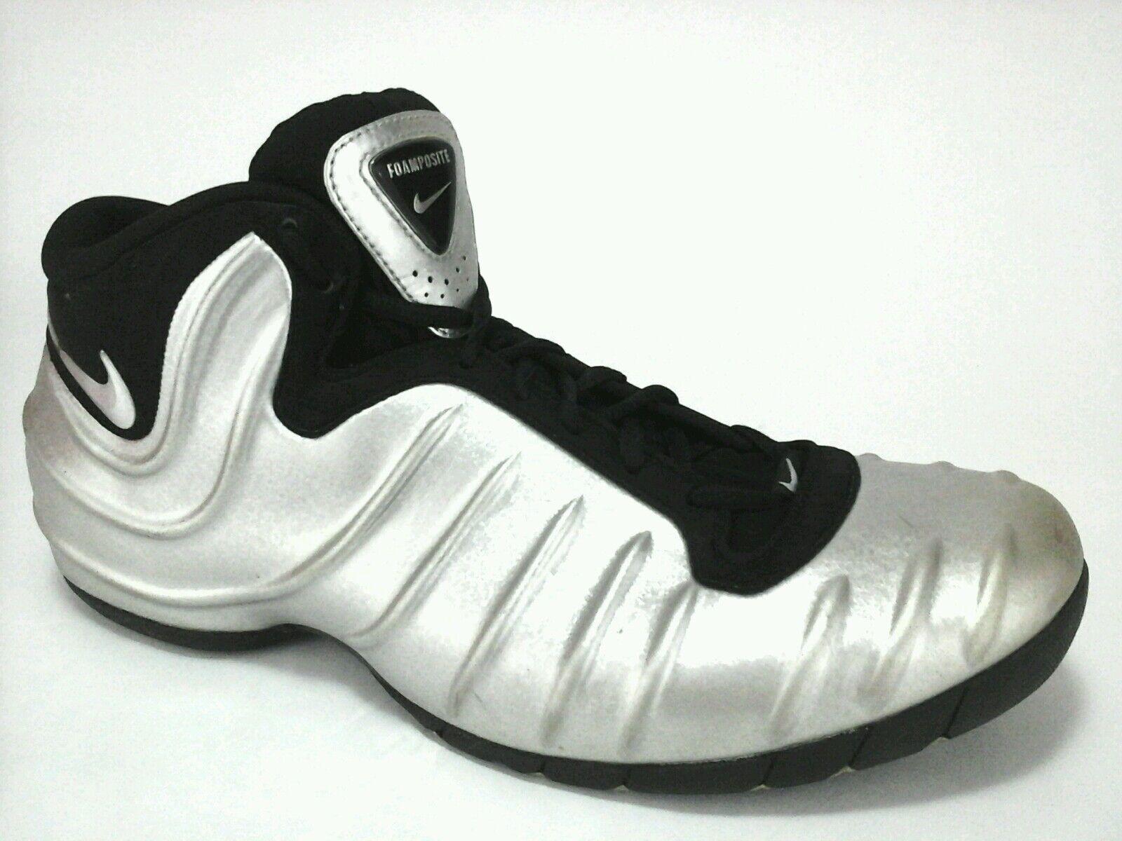 09015c1640 Details about NIKE Air FOAMPOSITE Metallic Silver Black Sneakers Shoes Mens  US 14 EU 48.5 RARE