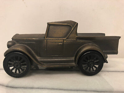 Banthrico Inc (Chicago USA) 1928 Metal Old Fashioned Car Coin Bank - Vintage