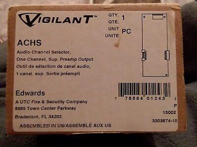 Vigilant Edwards Fire Alarm Audio Channel Selector Brand New In Box.