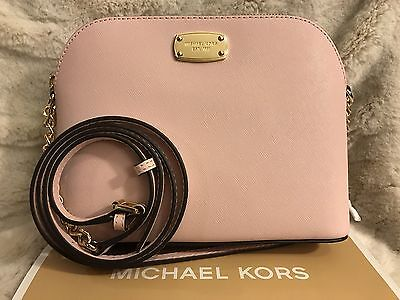 NWT MICHAEL KORS SAFFIANO LEATHER CINDY LARGE DOME CROSSBODY BAG IN BLOSSOM
