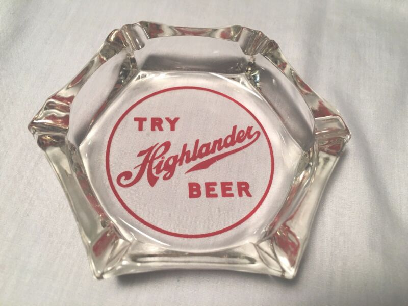 Try Highlander Beer Ashtray Vintage Missoula Montana breweriana