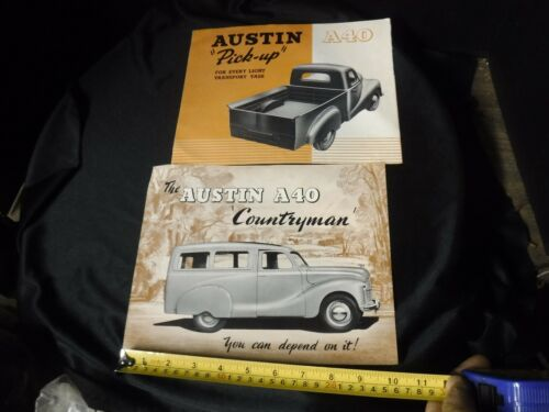 Austin A40 Countryman Wagon & Pickup Brochure Sales literature