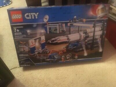 LEGO City 60229 Space Mars Rocket Assembly & Transport Building Kit 2019 1055 pc
