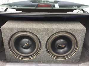 "12"" subwoofers + 2 amps"